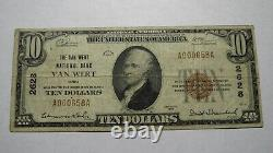 $10 1929 Van Wert Ohio Oh National Currency Bank Note Bill! Ch #2628 Fine Rare