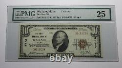 10 1929 Wallace Idaho ID Banque Nationale De Devises Note Bill Ch. #4773 Vf25 Pmg
