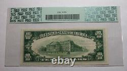 $10 1929 Waterloo New York Ny Monnaie Nationale Note De Banque Bill Ch #368 Xf40 Pcgs