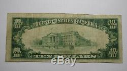 10 $ 1929 Weatherly Pennsylvania Pa Banque Nationale Monnaie Note Bill Ch. # 6108 Vf