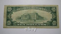 10 $ 1929 Wells River Vermont Vt National Currency Bank Note Bill! Ch. #1406 Vf
