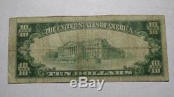 10 $ 1929 West Alexander Pennsylvania Pa Banque Nationale Monnaie Notez Le Projet De Loi # 8954