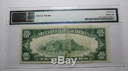10 $ 1929 Winslow Arizona Az Banque Nationale Monnaie Note Bill! Ch. # 12581 Vf35