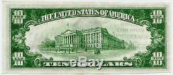 $ 10 Banque Nationale Deuxième Devise Nationale Hagerstown Maryland Unc
