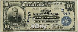 10 $ Devise Nationale Première Banque Nationale New Windsor, Maryland, Vf