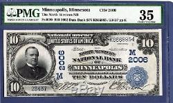 10 $ Minneapolis Minnesota 2006 Banque De Devises Nationale Du Nord-ouest, 620 Livres Sterling 35