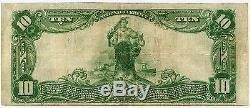$ 10 National Currency Merchants Banque Nationale De Baltimore MD 1902 Plain Back