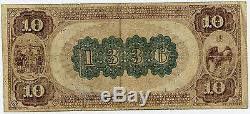 10 $ National Currency Merchants Banque Nationale De Baltimore Maryland 1885