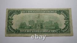 100 $ 1929 Richmond Virginia Va Monnaie Nationale Banque Note Bill! Réserve Fédérale