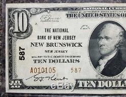 1029 $ 1929 Nouveau-brunswick, New Jersey Banque Nationale De Devises Note! # 587
