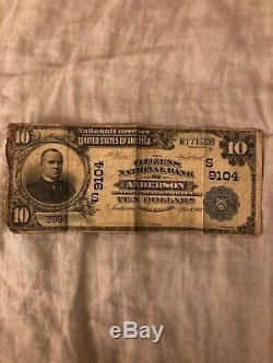17 Plus Rare Banque Nationale Monnaie Remarque Citizens National Bank Of Anderson Sc