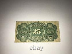 1863 Us 25 Cents Fractional Currency, National Bank Note Co