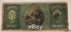 1865 $ 1 Première Banque Nationale De Genesee Valley Ny Note De La Monnaie