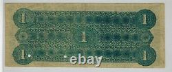 1868 Monaskon Virginia First National Oyster Bank $1 Devise Obsolète Rare