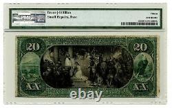 1875 20 $ Monnaie Nationale La Banque Nationale Winters Dayton Ohio Fr. 435 Pmg15