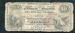 1882 $ 10 Bb La Première Banque Nationale D'yankton, Sd National Currency Ch. # 2068
