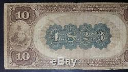 1882 $ 10 Devise Nationale National Bank Of Corry 4823 Brown Back Large Note