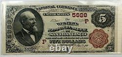 1882 5 $ Banque Nationale Monnaie Western San Francisco Californie Ch # 5688- Ww