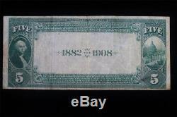 1882 5 $ Note Sur La Monnaie Nationale (elgin, Il) 3 Date Connue
