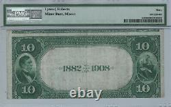 1882 Db $10 City National Bank Lincoln Nebraska Banknote Currency Pmg Vf 30 798