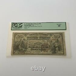 1882 New York 20 $ National Currency National Bank Of Commerce À New York Pgcs