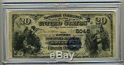 1896 $ 20 Quatrième Banque Nationale Atlanta Ga Note De La Monnaie N ° 5045 Rare
