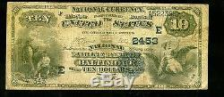 1900 $ 10 Devise Nationale, National Marine Bank Of Baltimore Note M