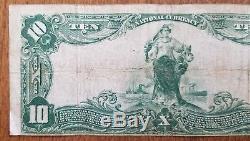 1902 10 $ DIX Dollar Cedar Rapids Iowa Banque Nationale Devise Nationale 3643 Note