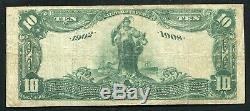 1902 10 $ Db La Banque Nationale 4 De Nashville, Tn Monnaie Nationale Ch. # 1669