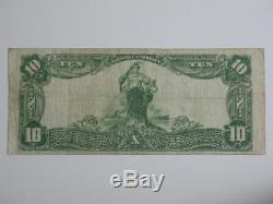1902 $ 10 Grandes Monnaie Nationale Américaine Merchants Bank Mobile Alabama 13097
