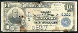 1902 10 $ La 1ère Banque Nationale De Groveton, Tx Monnaie Nationale Ch. # 6329