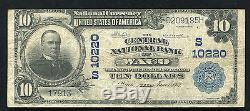 1902 10 $ La Banque Centrale Nationale De Waco, Tx Monnaie Nationale Ch. # 10220