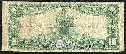 1902 10 $ La Banque Nationale Bradford De Greenville, IL National Monnaie Ch # 9734