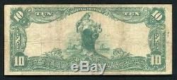 1902 10 $ La Banque Nationale D'échange D'augusta, Ga Monnaie Nationale Ch. # 1860