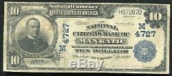1902 10 $ La Banque Nationale De Citoyens De Mankato, Monnaie Nationale Ch. # 4727