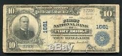 1902 10 $ La First National Bank De Fort Dodge, Ia Monnaie Nationale Ch. # 1661
