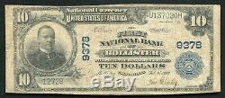 1902 10 $ La First National Bank Of Hollister, Ca Monnaie Nationale Ch. # 9378