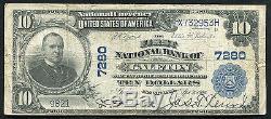 1902 10 $ La Première Banque Nationale De Galeton, Pa Monnaie Nationale Ch. # 7280