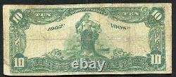 1902 10 $ La Première Banque Nationale De Graceville, Mn National Currency Ch. #7213