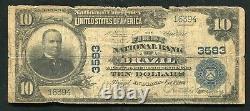 1902 10 $ La Première Banque Nationale Du Brésil, En Monnaie Nationale Ch. N°3583