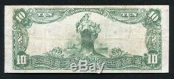 1902 10 $ La Sécurité Banque Nationale De Rockford, IL Monnaie Nationale Ch. # 11731