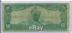 1902 $ 10 Merchants Bank National De Peoria ILL Charte Monnaie Nationale M 3254