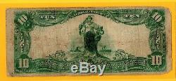 1902 10 $ Monnaie Nationale First National Bank Of Hartford De Excellente Condition
