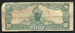 1902 10 $ National Exchange Bank Of Wheeling, Wv National Currency Ch. #5164