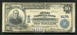 1902 10 $ Première Banque Nationale De Hattiesburg, Mme Monnaie Nationale Ch. Numéro 5176