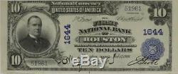 1902 10 $ Première Banque Nationale De Houston, Tx, Charte # 1644. Monnaie Nationale