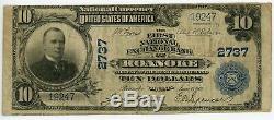 1902 $ 10 Roanoke Virginia First National Bank National Exchange Monnaie Jb971