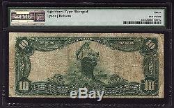 1902 $ 10 Sceau Rouge De La Monnaie Nationale Pmg 15 Fr. 613 Banque De New York Ny Ch # 1393