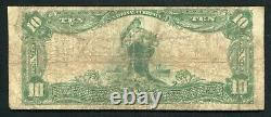 1902 10 $ The Ohio National Bank Of Columbus, Oh National Currency Ch. #5065
