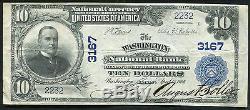 1902 10 $ Washington Banque Nationale De Washington, Ks Monnaie Nationale Ch. # 3167